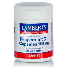 Lamberts PEPPERMINT OIL (Μέντα) 100mg, 90caps