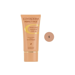 Coverderm Perfect Face SPF20 No 5 Αδιάβροχο Κρεμώδες Make Up 30ml