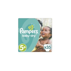 Pampers Baby-Dry Junior Diapers Size 5+ (13-27kg) 35 picies