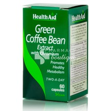 Health Aid Green Coffee Bean Extract - Αδυνάτισμα, 60caps