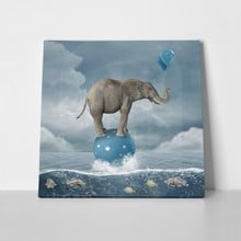 Surreal elephant in sea 379337533 a