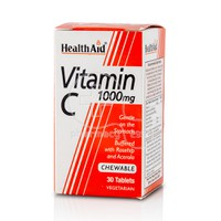 HEALTH AID - Vitamin C 1000mg - 30chew.tabs