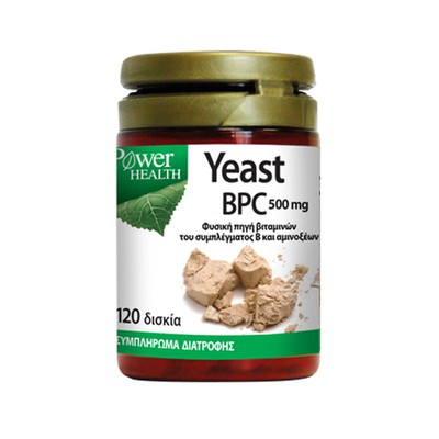 Power Health - Yeast BPC 500mg (Μαγιά Μπύρας) - 120tabs
