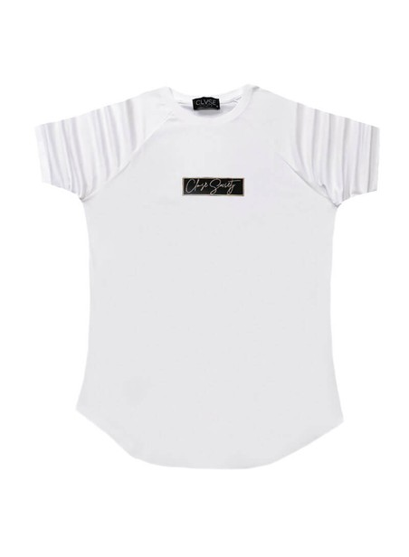 CLVSE SOCIETY WHITE T-SHIRT 519 WITH GOLD LOGO
