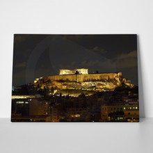 Athens acropolis by night