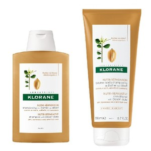 Klorane shampoo with desert date 200ml   conditioner 200ml