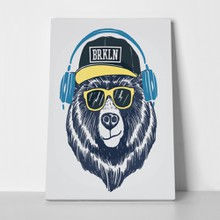 Cool bear illustration 622942823 a