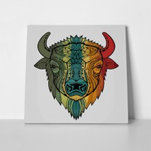 Colorful head buffalo abstract 374143672 a