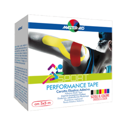 Master Aid Sport Performance Tape - Κόκκινη, 5cm x 5m
