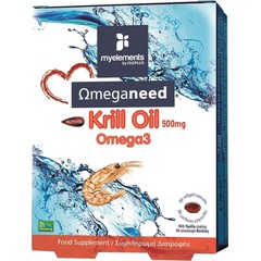 My Elements Omeganeed Krill Oil Omega3 500mg - Λιπαρά Οξέα, 30 μαλακές κάψουλες