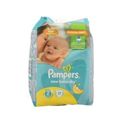 PAMPERS ACTIVE BABY DRY ΠΑΝΕΣ No2 3-6 kgr 17 ΤΜΧ