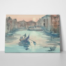 Venice sketch morning mist watercolor landscape 750209893 a