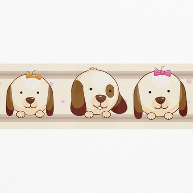 Wall Border Cute Dogs Sticky