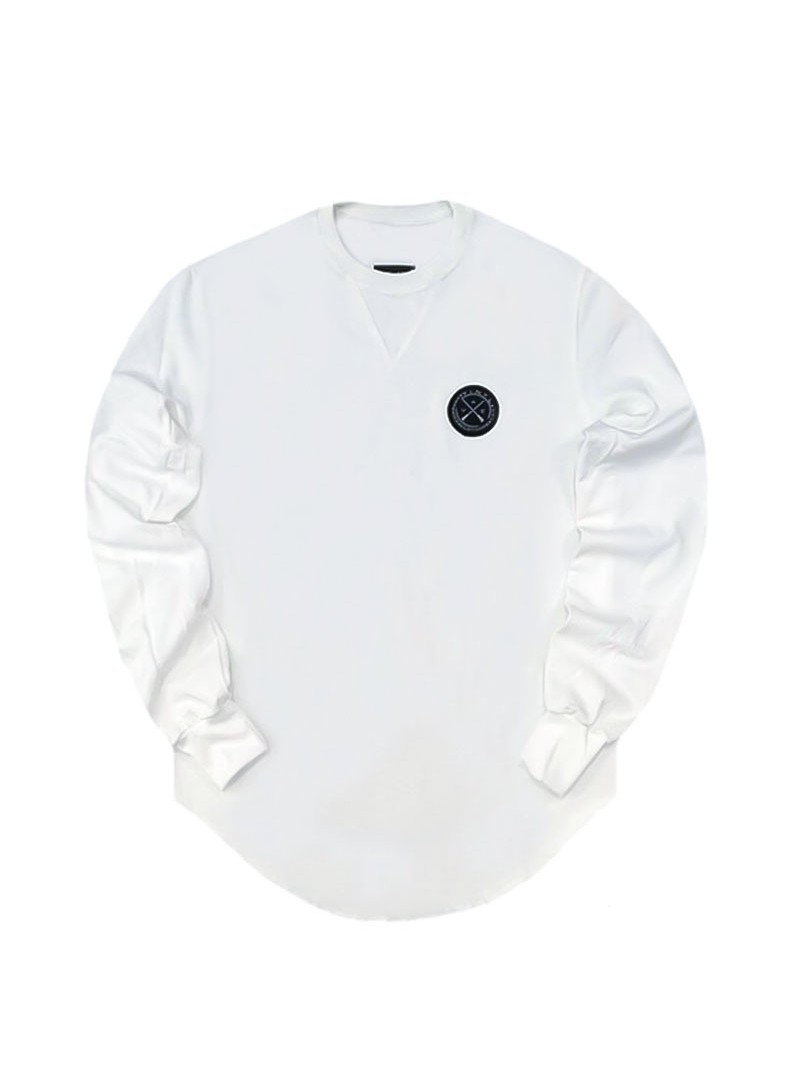 VINYL ART CLOTHING BASIC SWEATSHIRT WHITE