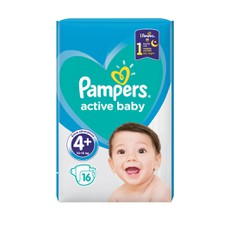 Pampers Active Baby No 4+ 10-15Kg 16 Τμχ.