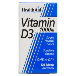 Health Aid Vitamin D3 1000IU 120veg.caps