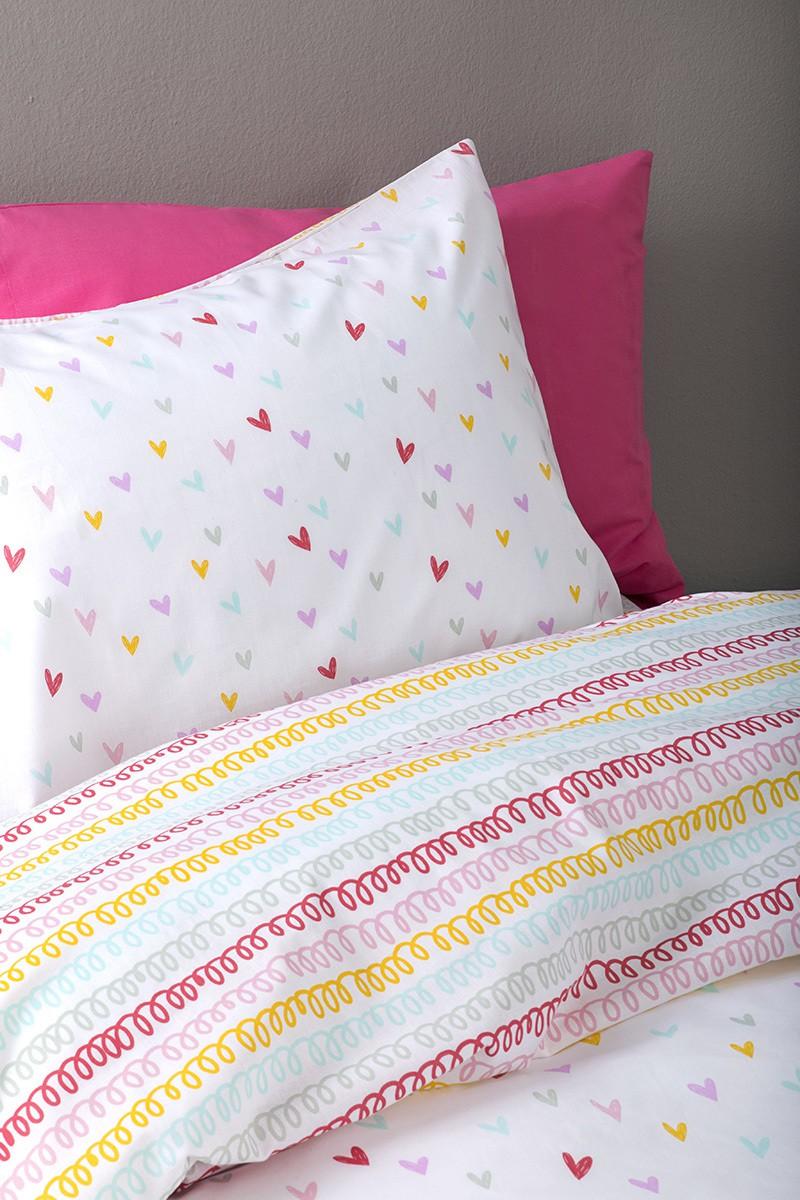 Σετ Σεντόνια Rainbow Hearts  Σετ Σεντόνια Rainbow Hearts ... f495c557fc4