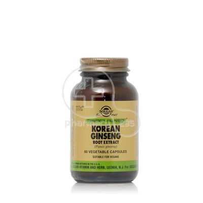 SOLGAR - Korean Ginseng (Panax Ginseng) Root Extract - 60caps