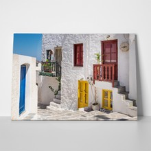Milos colorful street traditional greek 316843145 a