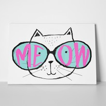 Cat glasses cute typography 531742075 a