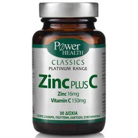 Power Health Classics Platinum - Zinc Plus C 30Tabs