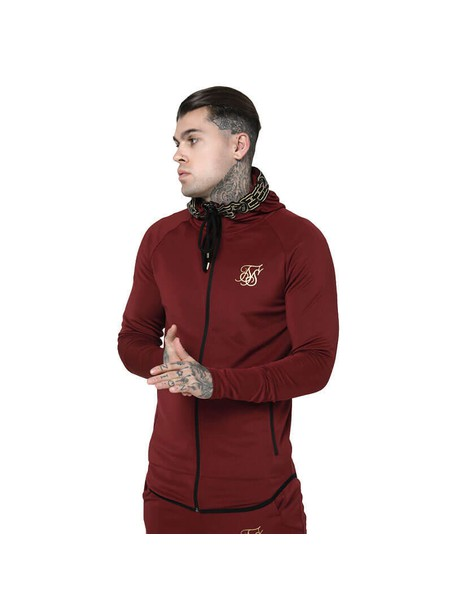 SikSilk  Cartel Athlete Zip Through Hoodie - Red