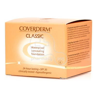 COVERDERM - CLASSIC Waterproof Concealing Foundation SPF30 (No6) - 15ml