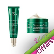 Nuxe Nuxuriance Ultra Creme-Fluide Redensifiante 50ml & Ultra Crème Nuit 50ml.