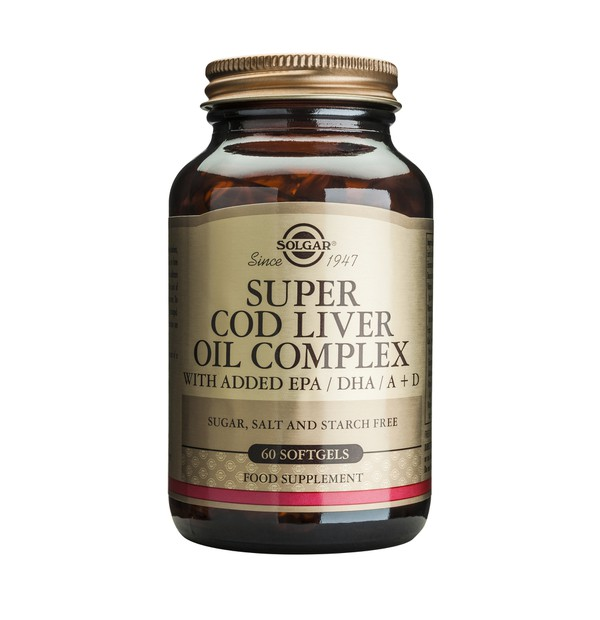 SOLGAR COD LIVER OIL SUPER COMPLEX SOFTGELS 60S