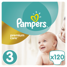 4ba7d30cd03 Pampers Premium Care No 3 (5-9Kg) Πάνες 120Τμχ (0,3Ευρώ