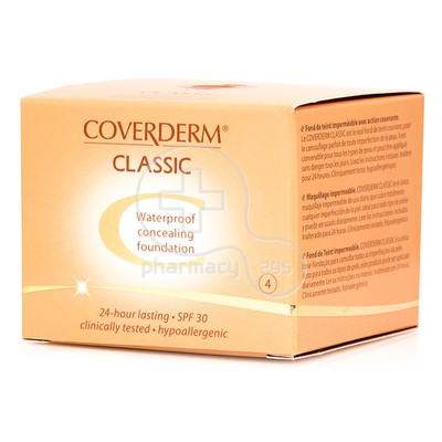COVERDERM - CLASSIC Waterproof Concealing Foundation SPF30 (No4) - 15ml