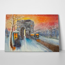 Original oil painting winter scene 461374024 a