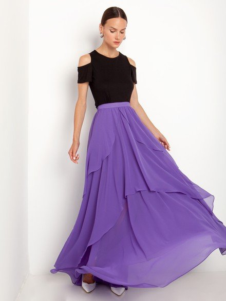 Maxi ruffled skirt