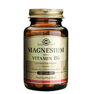 Solgar minerals magnesium with vitamin b6 tablets