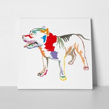 Colorful pit bull dog 694932010 a