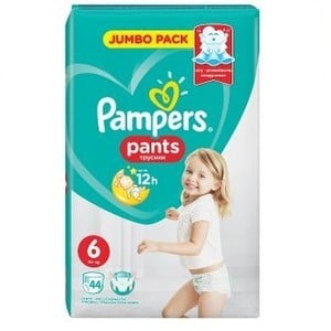 PAMPERS Pants up to 12h N6 15+kg Jumbo pack 44τεμάχια