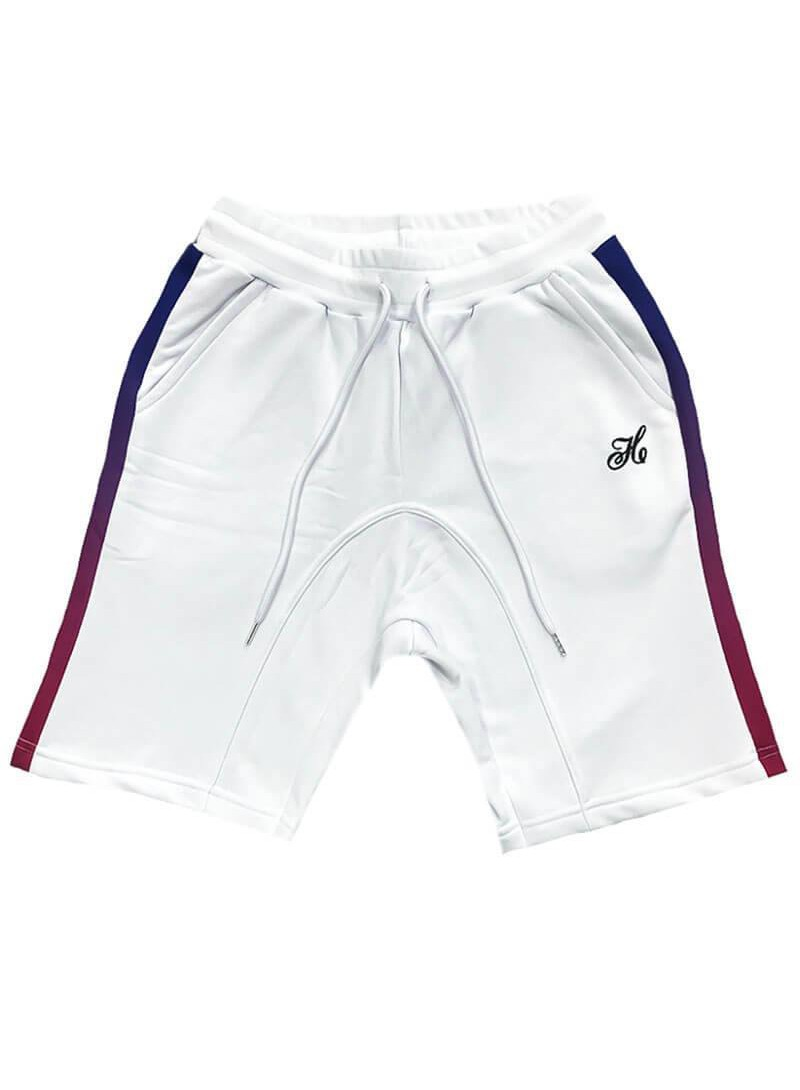HENRY CLOTHING WHITE STRIPE SHORTS