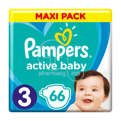 PAMPERS - MAXI PACK Active Baby Νο3 (6-10kg) - 66 πάνες