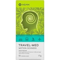 Agan Travel Med Motion Sickness 10 Chewing Gums
