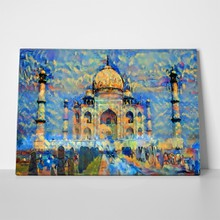 Oil painting artwork taj mahal india 709413808 a
