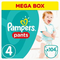 Pampers Pants Mega Pack No.4 (Maxi) 9-14 kg Βρεφικές Πάνες 1c8eff9e3c6