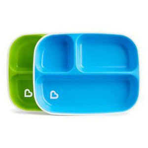 Munchkin splash divided plates  blue