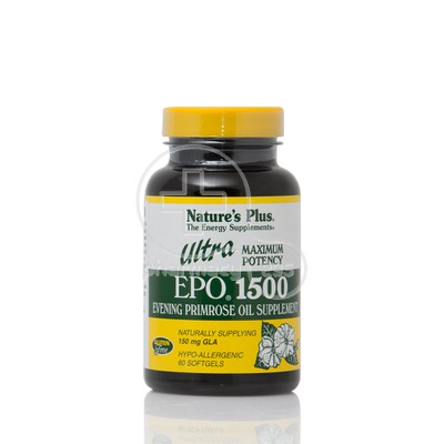 NATURE'S PLUS - ULTRA EPO 1500mg (Evening Primrose Oil) - 60softgels