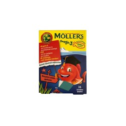 Moller's Omega 3 Baby Strawberry Gummies 36 gummies