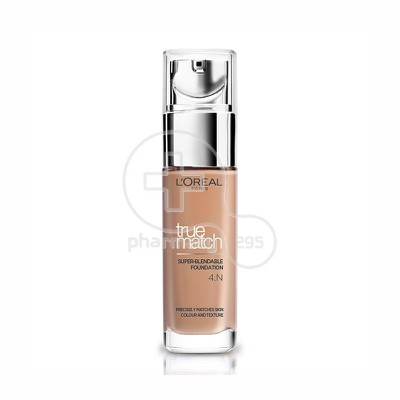 L'OREAL PARIS - TRUE MATCH Super Blendable Foundation No4Ν (Beige) - 30ml