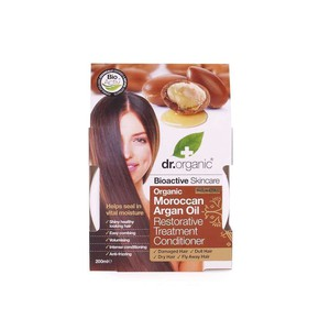 Dr organic moroccan argan oil hair restorative treatment 200ml