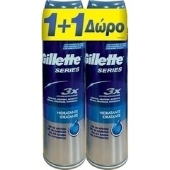 Gillette Series 3X Moisturising Gel - Ζελ Ξυρίσματος, 2x200ml (1+1 Δώρο)