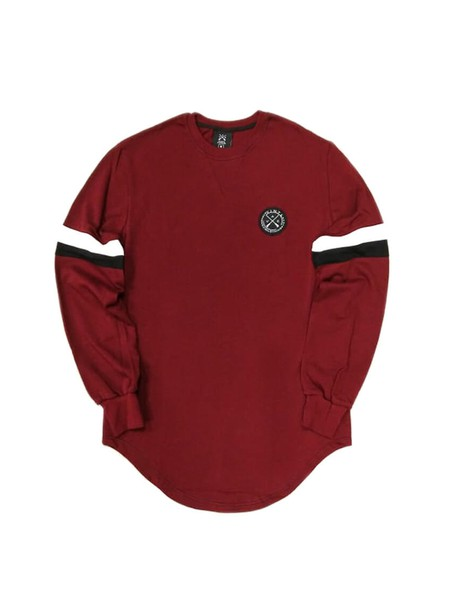 VINYL ART CLOTHING SWEATSHIRT WITH COLOUR BLOCKING BORDEAUX