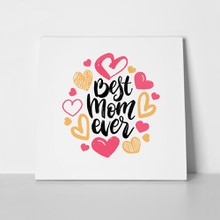 Best mom ever vector hand lettering 1076269493 a
