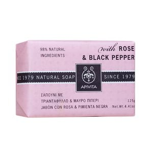 APIVITA Natural soap with rose & black pepper 125gr